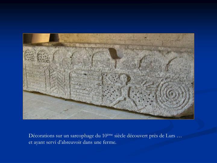 Décorations sur un sarcophage du 10