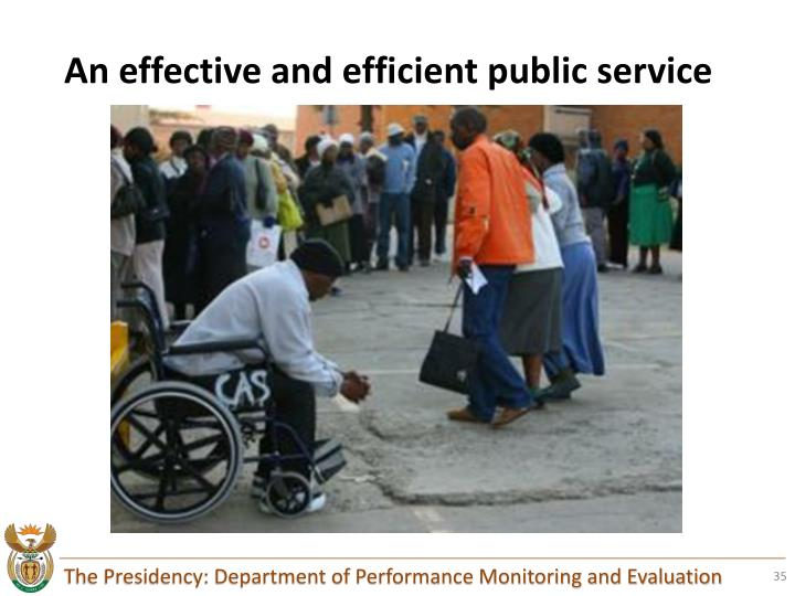 An effective and efficient public service