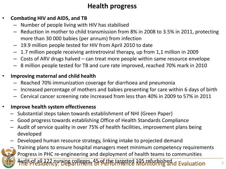 Health progress