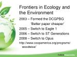 frontiers in ecology and the environment2