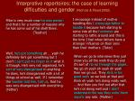 interpretive repertoires the case of learning difficulties and gender nichols read 2002