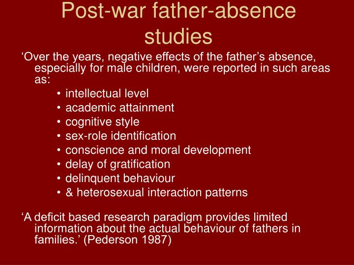 Post-war father-absence studies