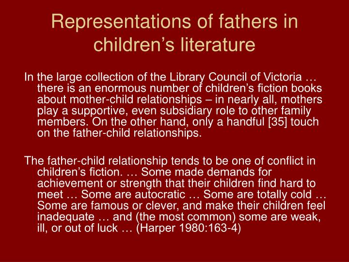 Representations of fathers in children's literature
