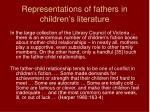 representations of fathers in children s literature