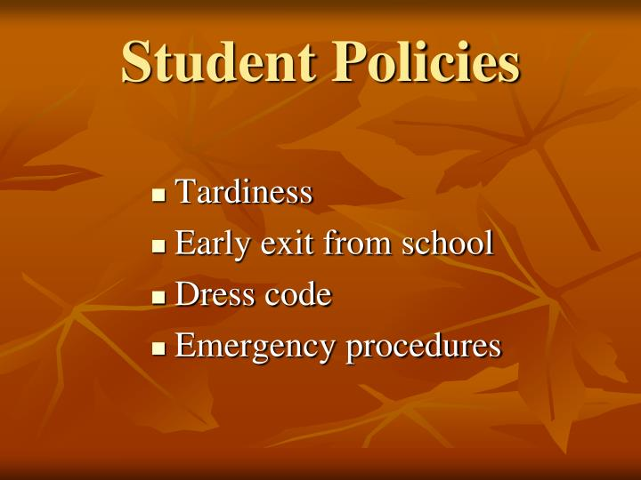 Student Policies