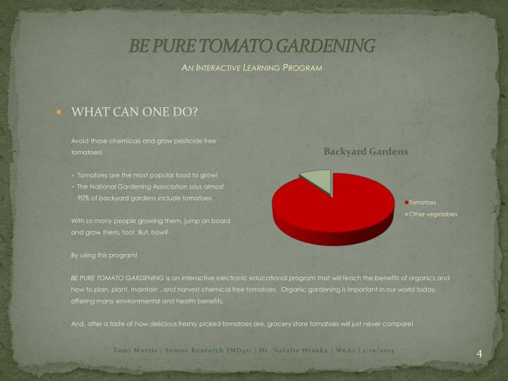 BE PURE TOMATO GARDENING