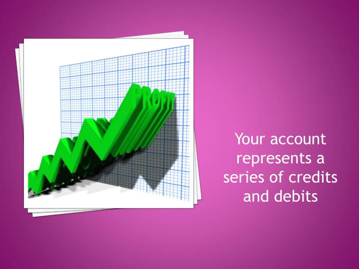 Your account represents a series of credits and debits