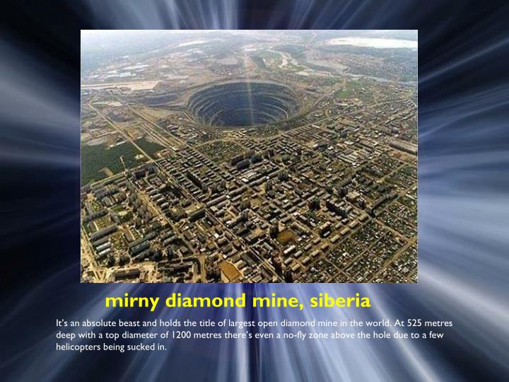 Mirny diamond mine siberia