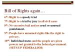 bill of rights again
