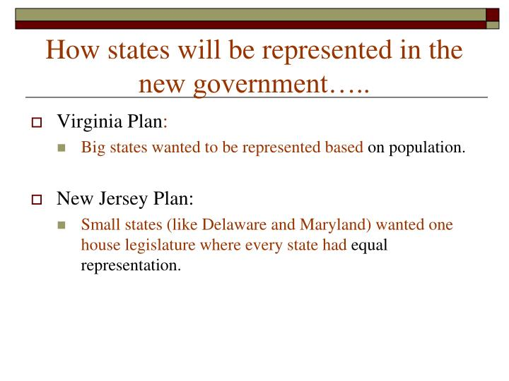 How states will be represented in the new government…..