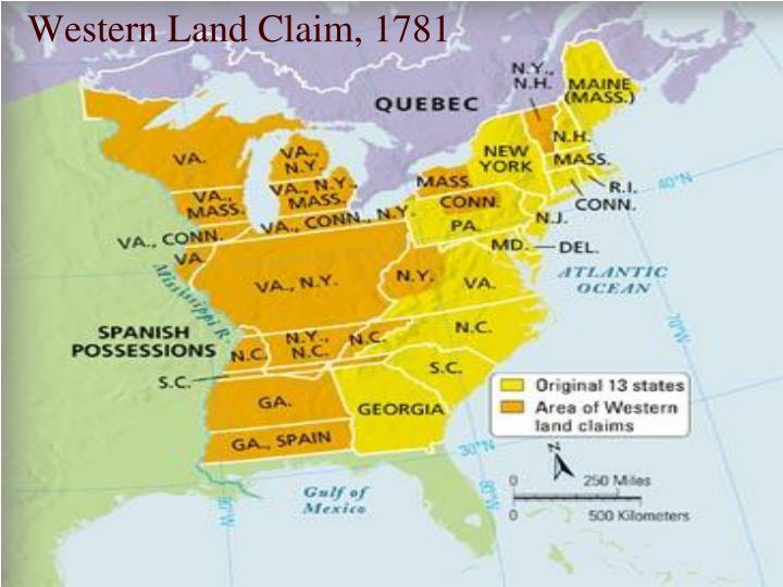 Western Land Claim, 1781