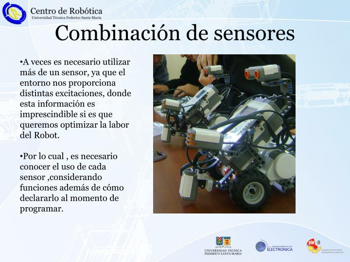 Combinación de sensores