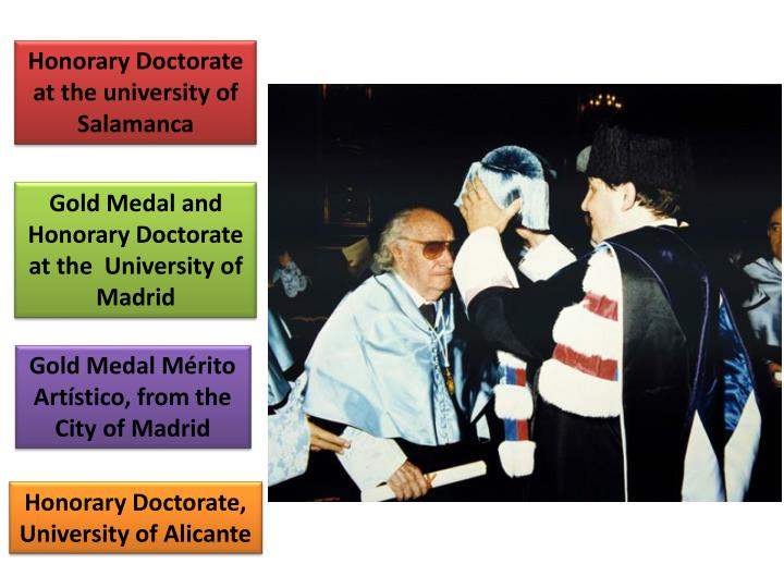 Honorary Doctorate at the university of Salamanca