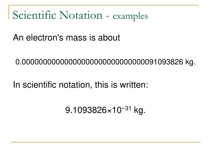 Scientific Notation -