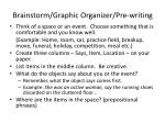 brainstorm graphic organizer pre writing
