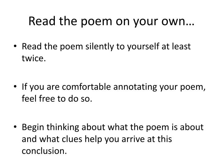 Read the poem on your own…