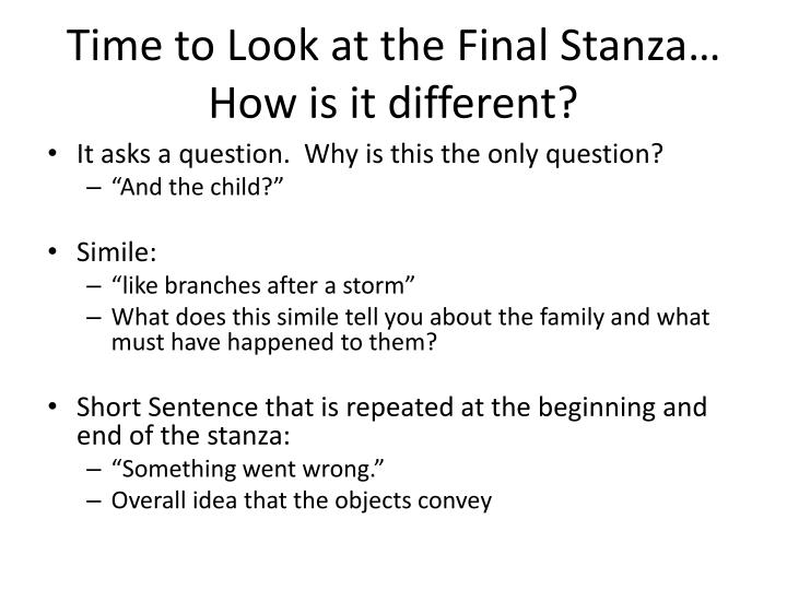 Time to Look at the Final Stanza…