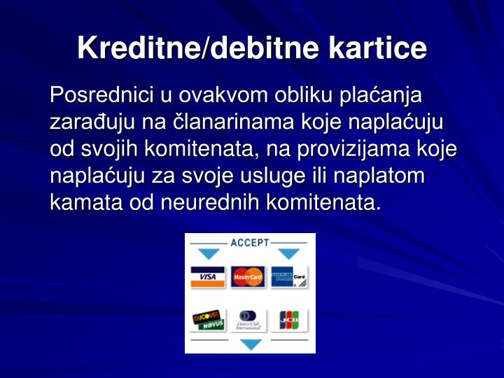 Kreditne/debitne kartice