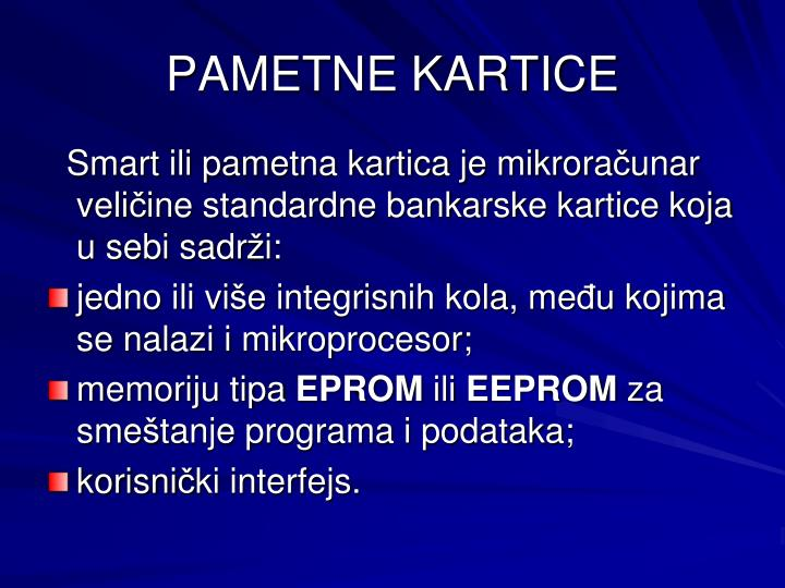 PAMETNE KARTICE