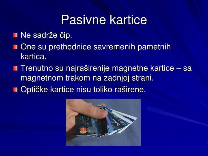 Pasivne kartice