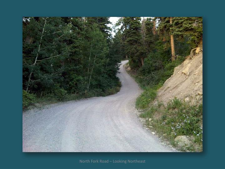 North Fork Road – Looking Northeast