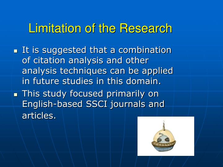 Limitation of the Research