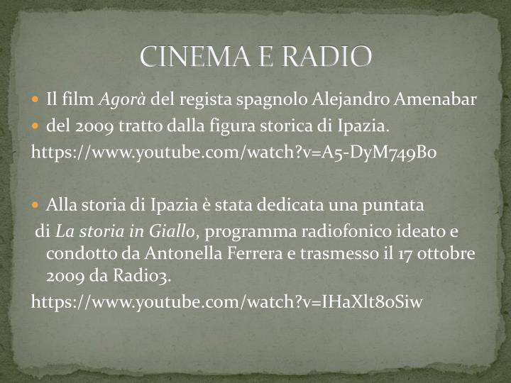 CINEMA E RADIO