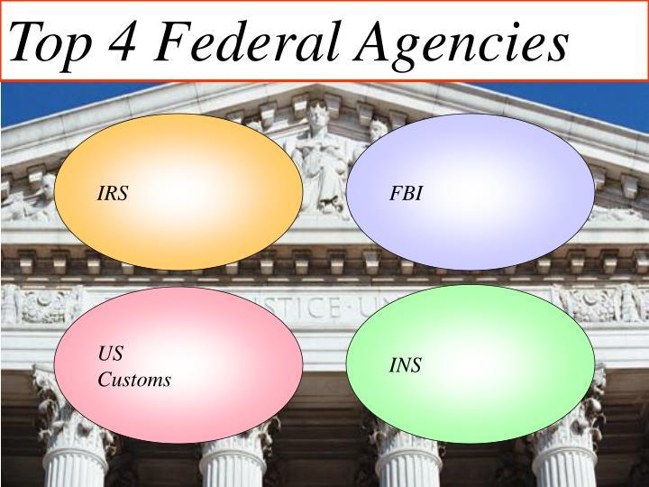Top 4 Federal Agencies