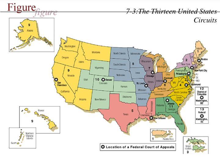 7-3:The Thirteen United States Circuits