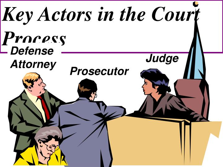 Key Actors in the Court Process