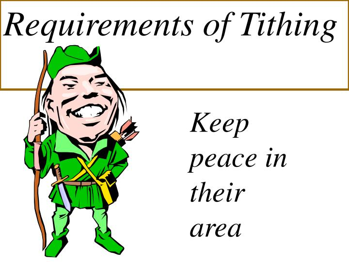Requirements of Tithing