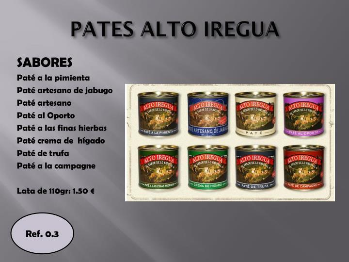 PATES ALTO IREGUA