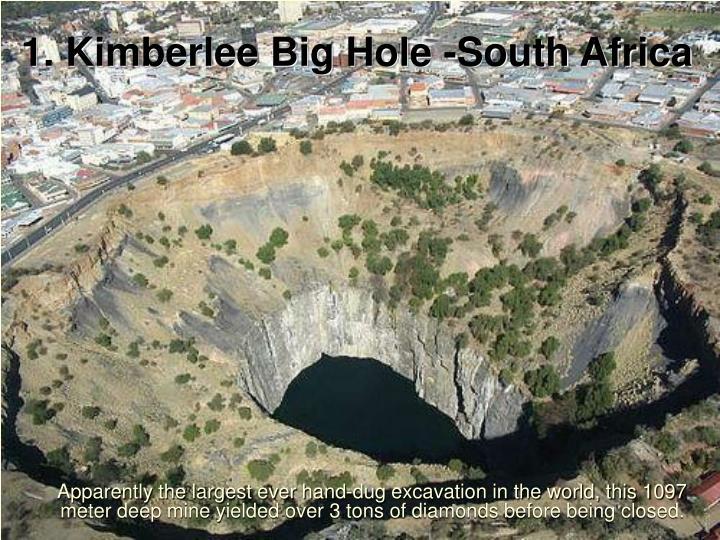 1. Kimberlee Big Hole -South Africa
