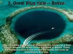3 great blue hole belize