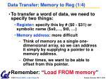 data transfer memory to reg 1 4