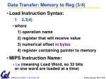 data transfer memory to reg 3 4