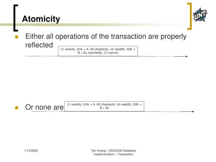 Atomicity