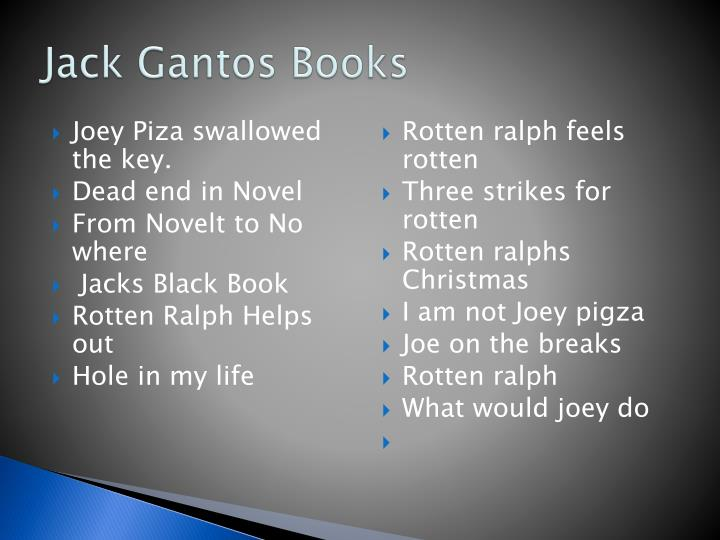 Jack Gantos Books