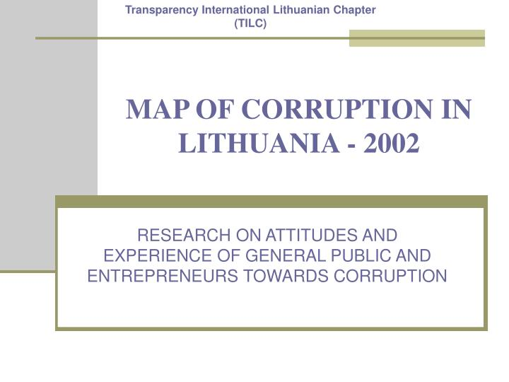 Map of corruption in lithuania 2002