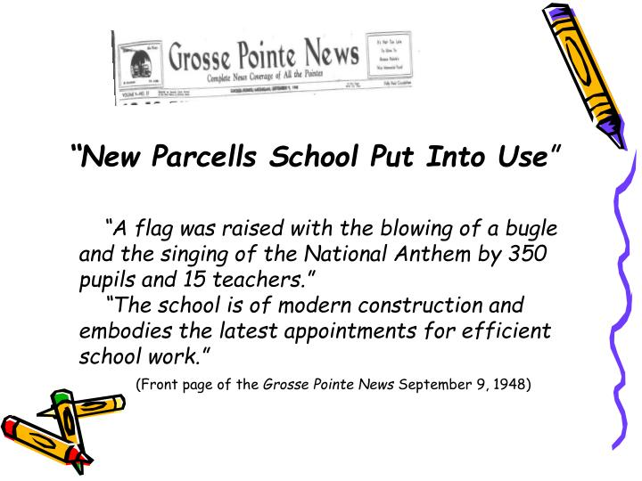 """""""A flag was raised with the blowing of a bugle and the singing of the National Anthem by 350 pupils and 15 teachers."""""""