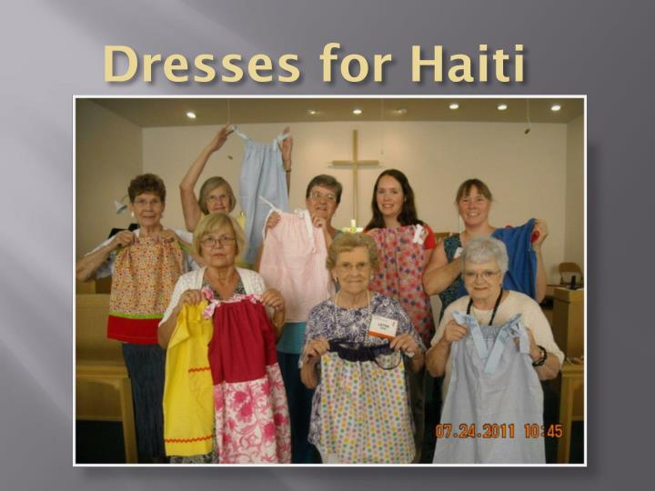Dresses for Haiti