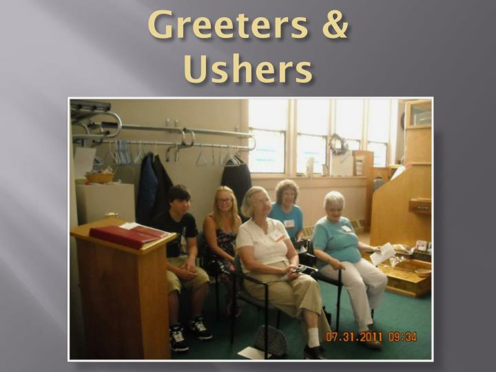 Greeters & Ushers