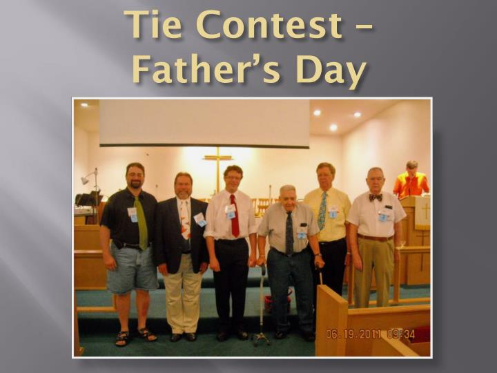 Tie Contest – Father's Day