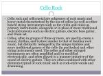 cello rock