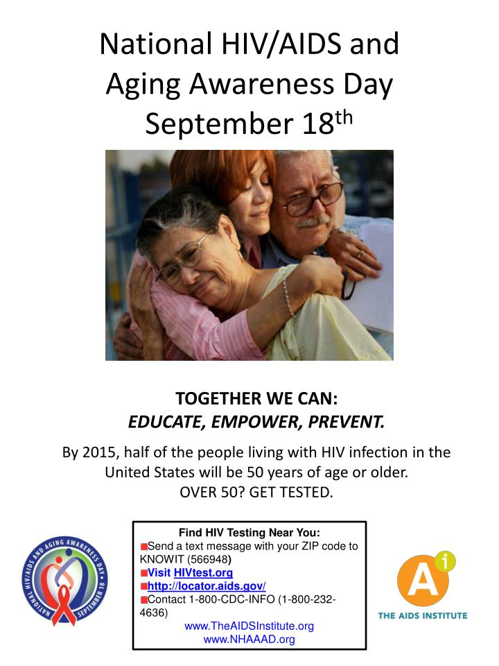 National hiv aids and aging awareness day september 18 th