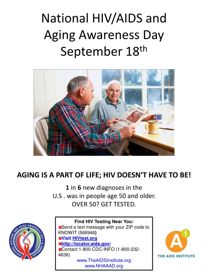National hiv aids and aging awareness day september 18 th2