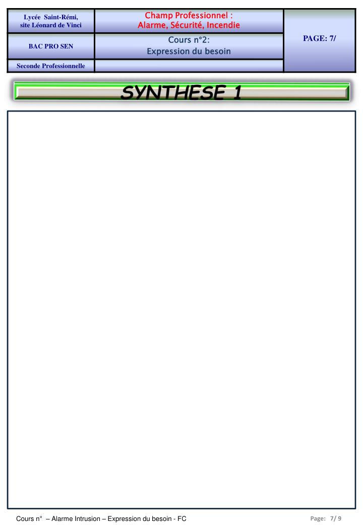SYNTHESE 1