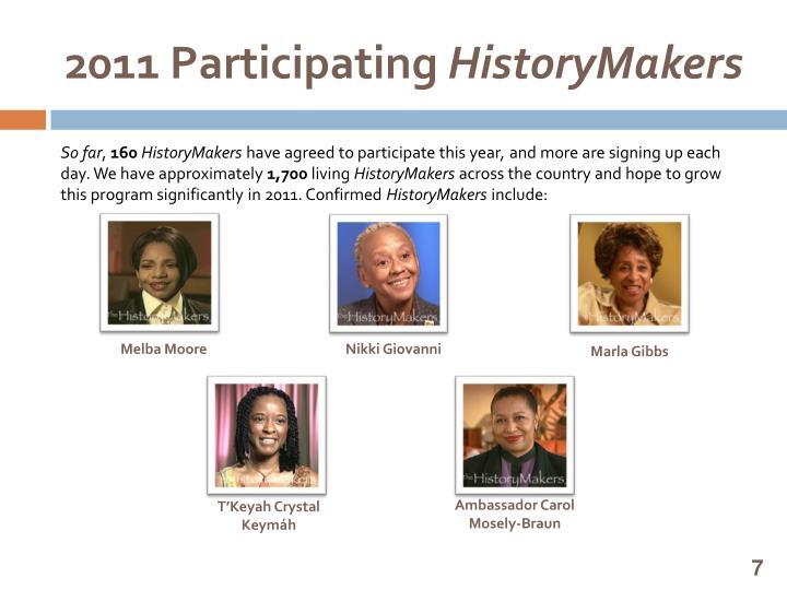 2011 Participating