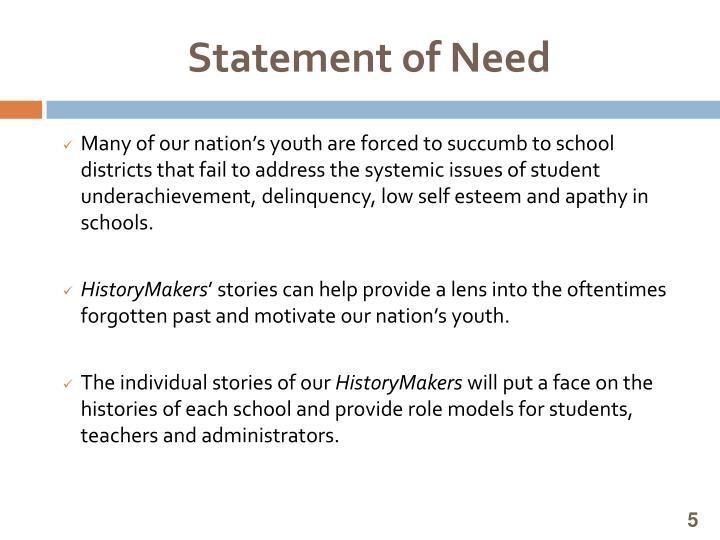Statement of Need