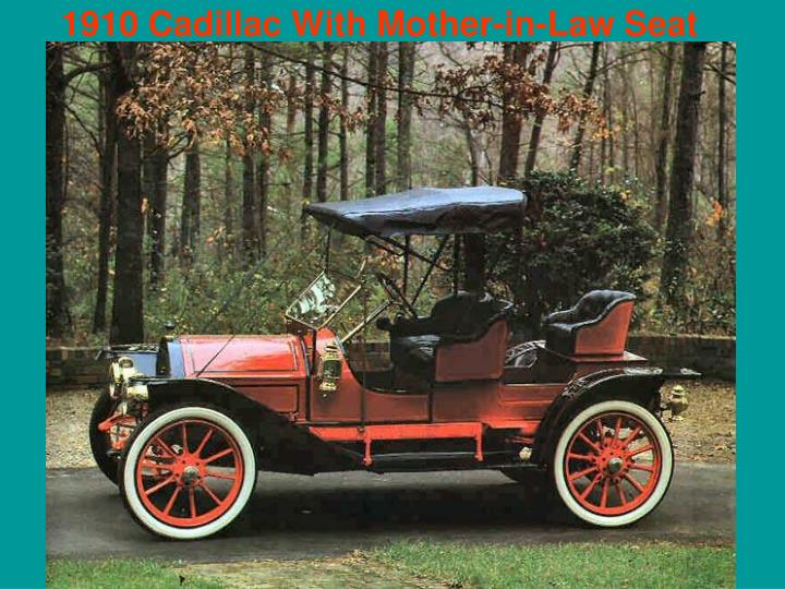 1910 Cadillac With Mother-in-Law Seat